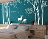 Vinyl Tree Wall Decal Wall Sticker Deer Decal Forest Decal Room Decor Graphic Mural Wall Decor Wall Art