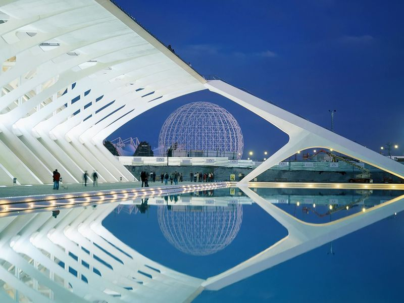 Architecture, City Of Arts And Sciences, Valencia, Spain, Architecture, Exhibition