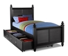 Seaside Black Twin Bed With Trundle