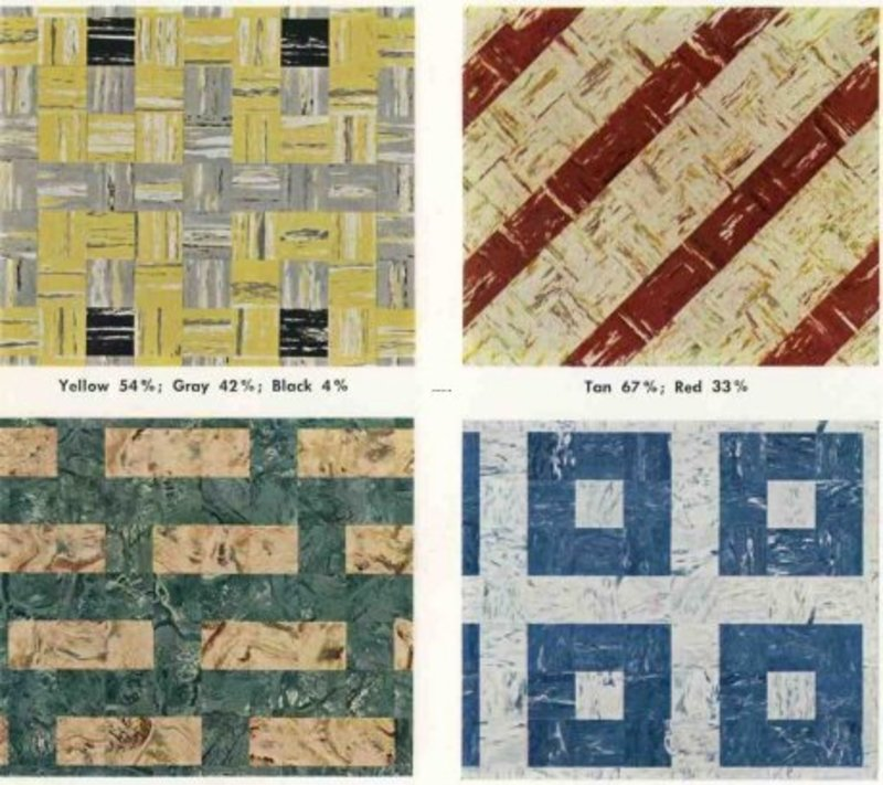 30 Patterns For Vinyl Floor Tiles From The 1950s Design