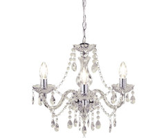 Wilko Marie Therese Chandelier Clear 3 Arm At Wilko.Com