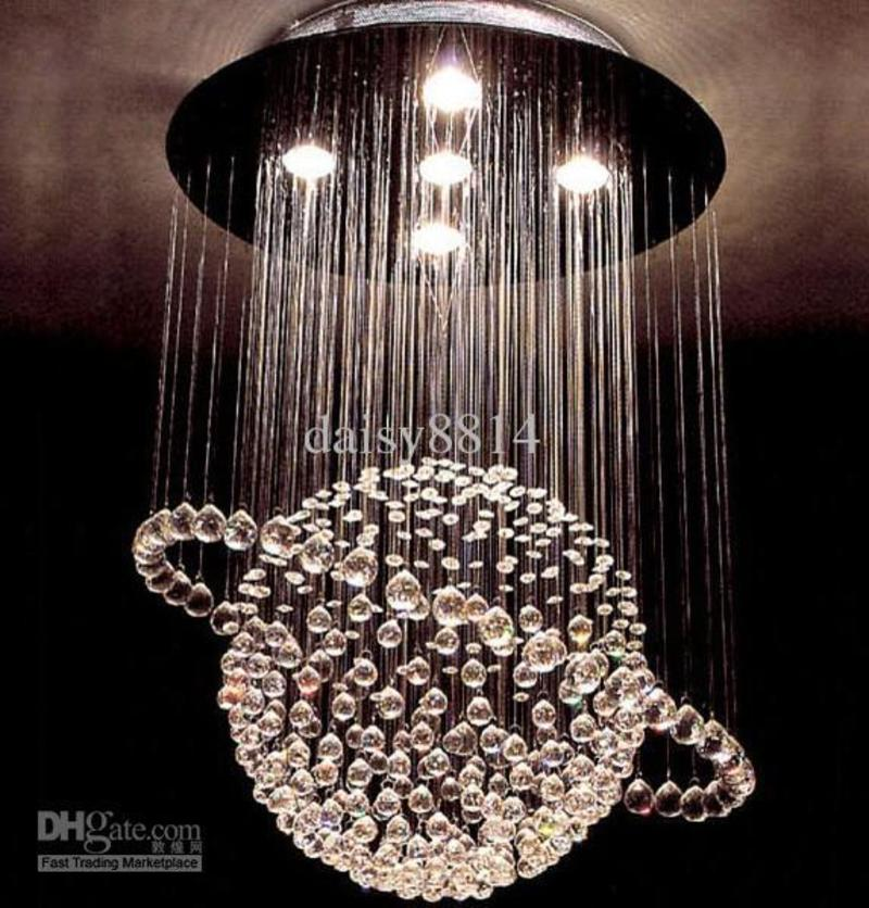 Chandelier hot sales italy style dia500 h800mm crystal for How to make a modern chandelier