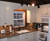 Furniture. Dark Brown Granite Countertop Connected By White Sink And Black Faucet Also White Wooden Kitchen Cabinet. Wonderful Brown Granite Countertops To Full Fill Your Dream Kitchen. Homcy Awesome Home Interior Decoration Ideas