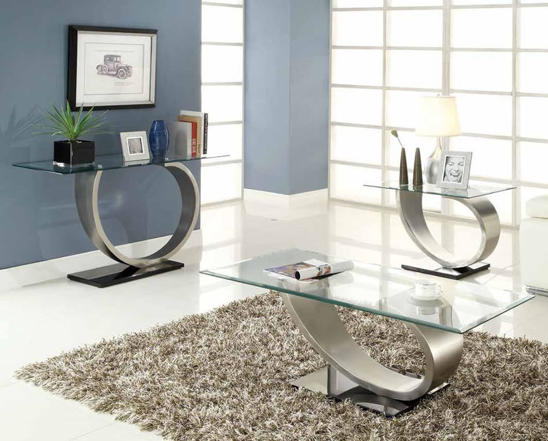 Modern Furniture Stores Metal amp Glass Coffee Table Chicago