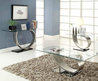 Modern Furniture Stores Metal & Glass Coffee Table Chicago