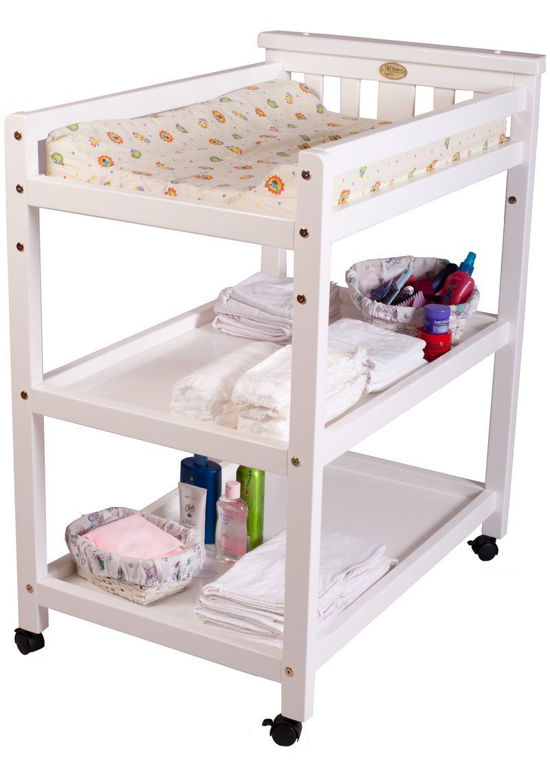 Baby change tables cot top changer change table drawer for Baby bed with wheels