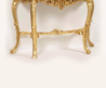 Gold Leaf Hall Table / Console Table With Glass Inlay
