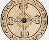 Marble Flower Water Jet Medallion Pattern