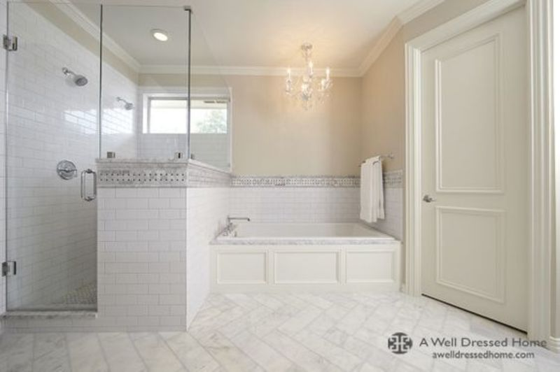 Master bath design from a well dressed home blog design for Well designed bathrooms