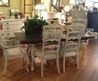 Stunning French Country Cottage Painted Dining Set By Tess Home, $1895.00