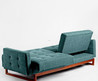 Either/Or Convertible Sofa, Turquoise