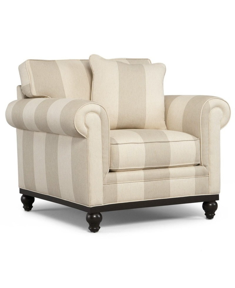 Martha Stewart Living Room Chair, Club Striped Arm Chair