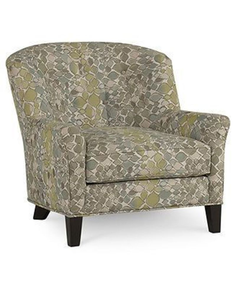charlene fabric accent chair 34 w x 36 d x 33 h design bookmark 21756. Black Bedroom Furniture Sets. Home Design Ideas