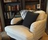 Ikea Stocksund Chair, Want! With A Comfy Footstool. Love The Lived In Cozy Fabric,And Legs!