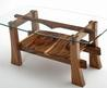 Contemporary Rustic Coffee Tables, Live Edge Solid Wood Coffee Tables, Natural Slab Coffee Tables
