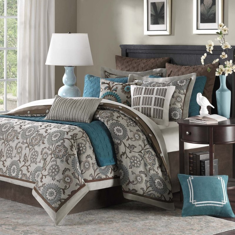 Comforters And Bedspreads, Comforters And Bedspreads Teal And Brown Bedding And Comforter Sets