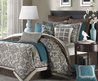 Comforters And Bedspreads Teal And Brown Bedding And Comforter Sets