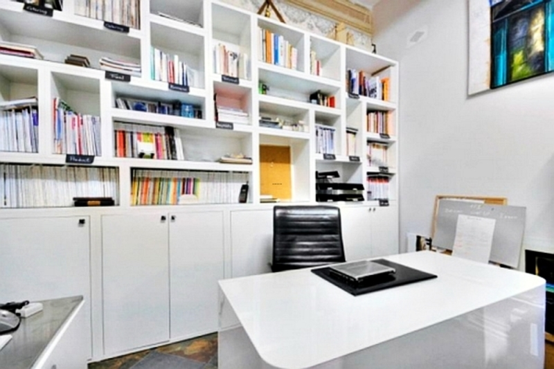 Home Round White Modern Home Office Furniture Collections