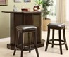 Decorating Ideas Tremendous Folding Bar Stool Set Of 2 Combined With Glass Round Table And Silver Stud