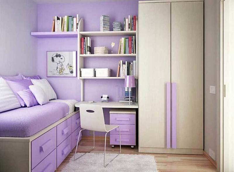 Small bedroom decorating ideas for teenage girl bedroom - Girl bedroom ideas for small rooms ...