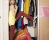 Teenage Girl In Wardrobe At Home Stock Photo, Picture And Royalty Free Image. Image 17213790.