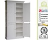 Solid Wood 7ft Tall Larder, Pantry, Shelving Kitchen Cupboard/Cabinet With Drawers