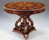 Hand Carved Hardwood And Parquetry Inlay
