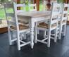 Painted Farmhouse Table And Shaker Chairs By Rectory Blue