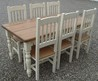 """Cheshire 72"""" X 36"""" Painted Farmhouse Dining Table Set With 6 Chairs"""