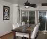 Cheap And Simple Farmhouse Kitchen Table In Traditional Style Combined With White Fabric Upholstery Chairs And Added Black Ceiling Fans With Lights With Farmhouse Tables Also Small Kitchen Tables And Chairs Impressive Wood Farmhouse Kitchen Table Designs