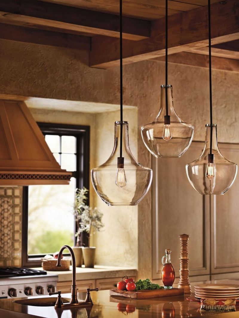 1000 ideas about kitchen island lighting on pinterest for Contemporary kitchen pendant lighting