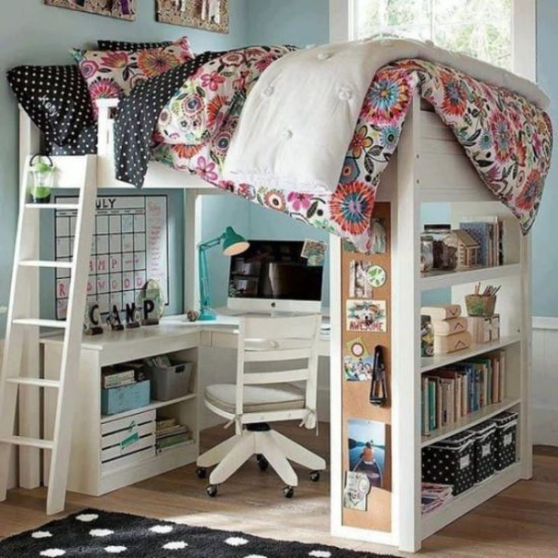 Kid Loft Bed With Desk, 45 Bunk Bed Ideas With Desks