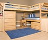 Twin Loft Bed With Desk Wooden — Twin Bedding Ideas