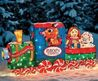 Lighted 3 D Rudolph Reindeer & Friends Train Tinsel Outdoor Christmas Decoration