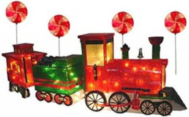 Outdoor christmas decorations design bookmark 22588 for Outdoor christmas train decoration