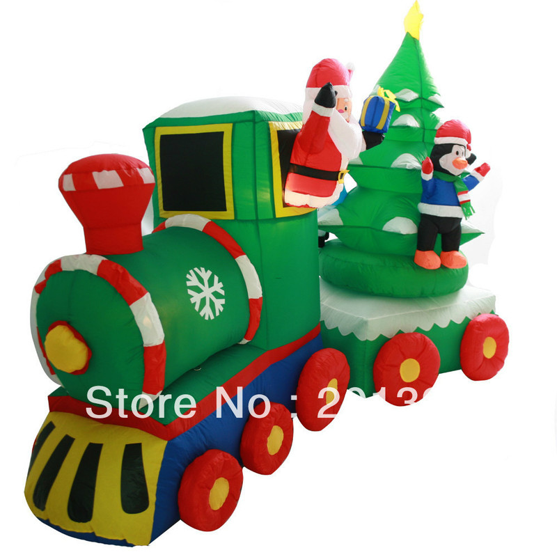 Outdoor lighted christmas train design bookmark 22592 for Outdoor christmas train decoration