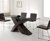 Contemporary Design Of Modern Dining Sets Of Glass Table Also Black Chairs