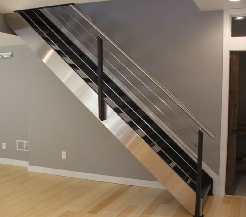 Decorating Stairs And Stair Railing: Modern Stair Railing Ideas / Design Bookmark #22881