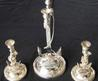 A Very Unusual Set Of Three Naval Silver Plated Candlesticks C1930. In Silver