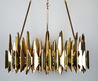 Contemporary Chandelier / Acrylic / Steel / Brass