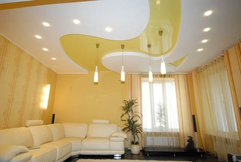 Modern Ceiling Designs Decorative Stretch Film Design