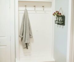 Picture Of Tiny Mudroom Built In Furniture For Storage
