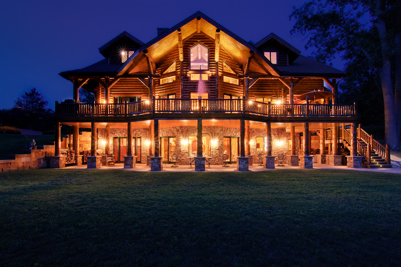 Log Home Living Lighting Images, Photos