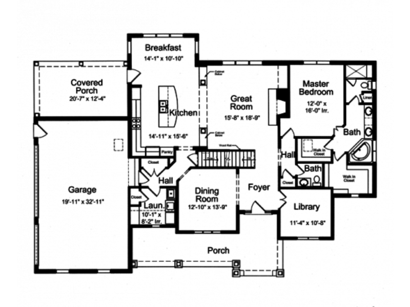 Three Bedroom Mansion House Plan From Dream Home Source