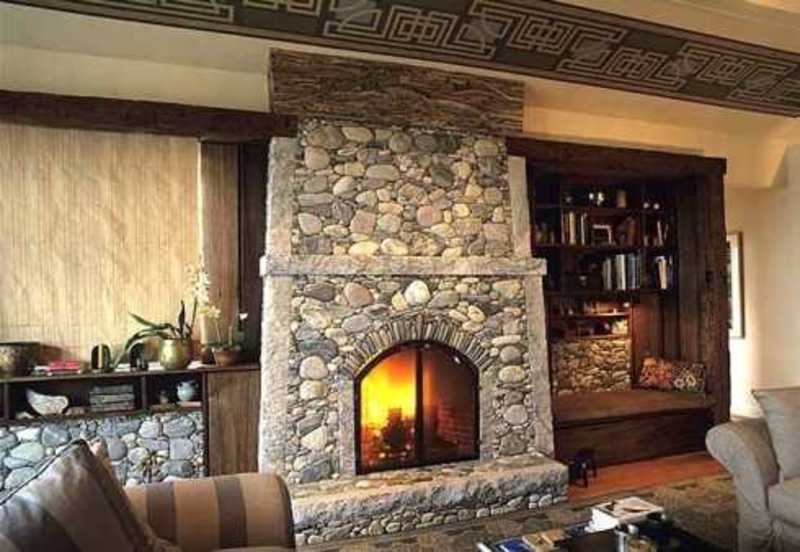 Standout River Rock Fireplace Designs . . . All Time ...