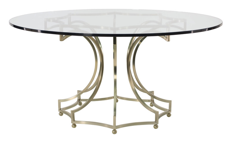 Round Glass Top Dining Table, Round Dining Table Glass Top With Metal Base