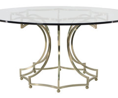 Round Dining Table Glass Top With Metal Base