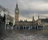 The House Of Parliament And Parliament Square Flooded And Underwater Stock Photo, Royalty Free Image
