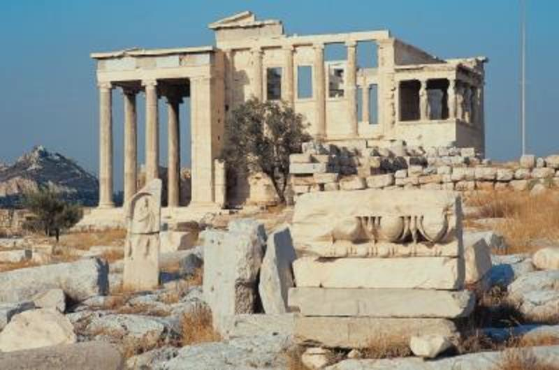 What are the famous landmarks in greece design bookmark for 3 famous landmarks