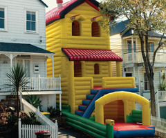 •                  Cool Street Submission Posted Houses Vertical Bounce House             Eclecticpandas  •